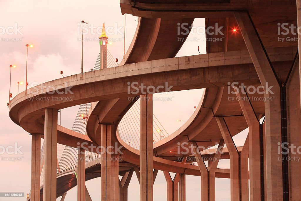 Mega Bridge  Thailand.. royalty-free stock photo