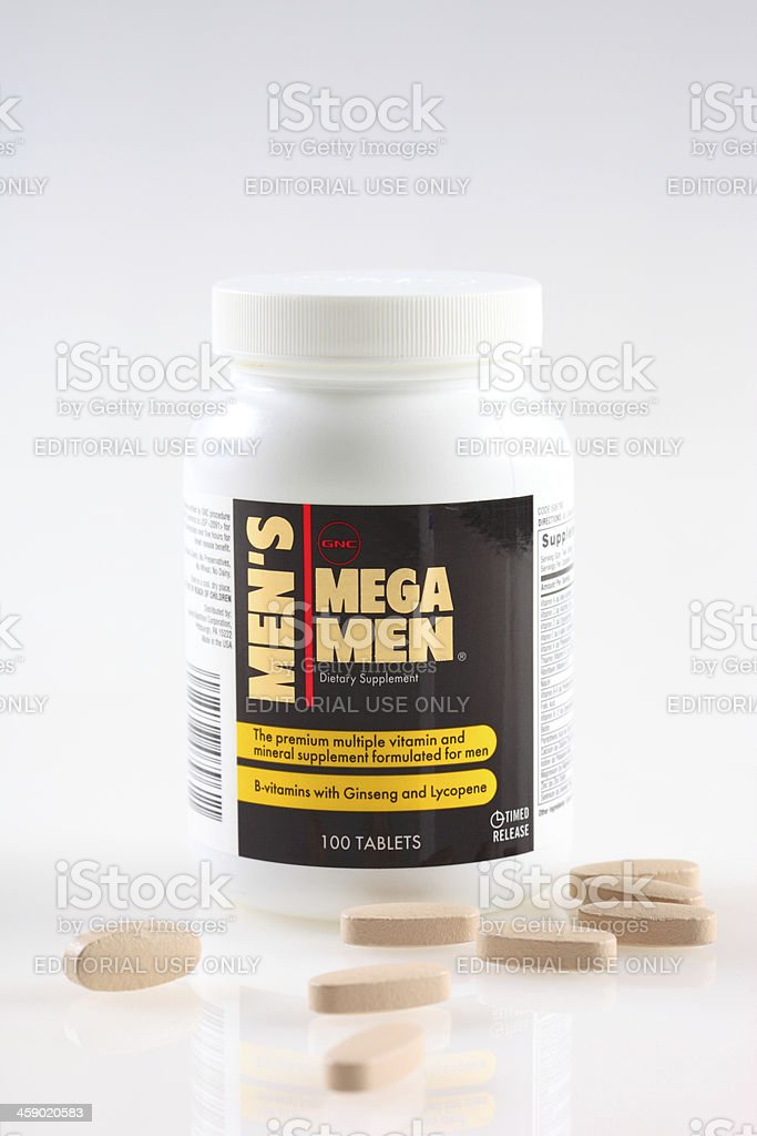GNC Mega Men royalty-free stock photo