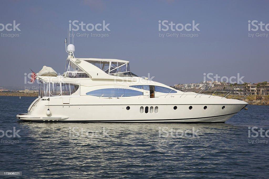Mega Yacht reposo - foto de stock