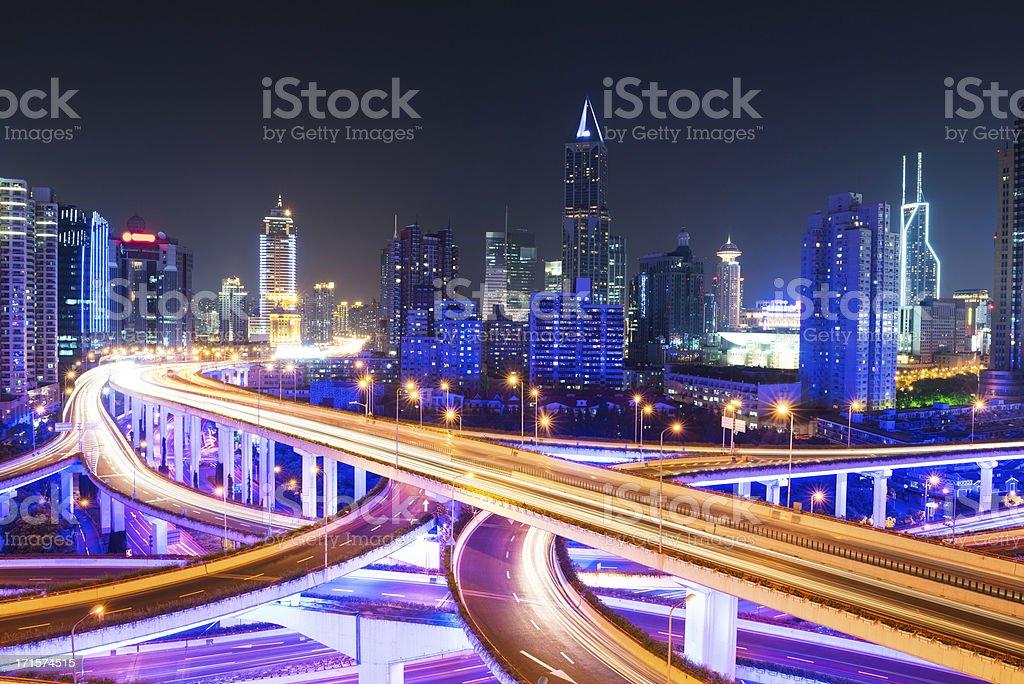 Megacity Highway in shanghai royalty-free stock photo