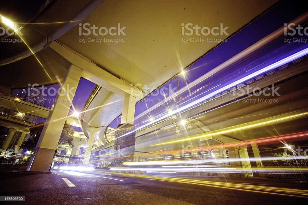 Megacity Highway royalty-free stock photo