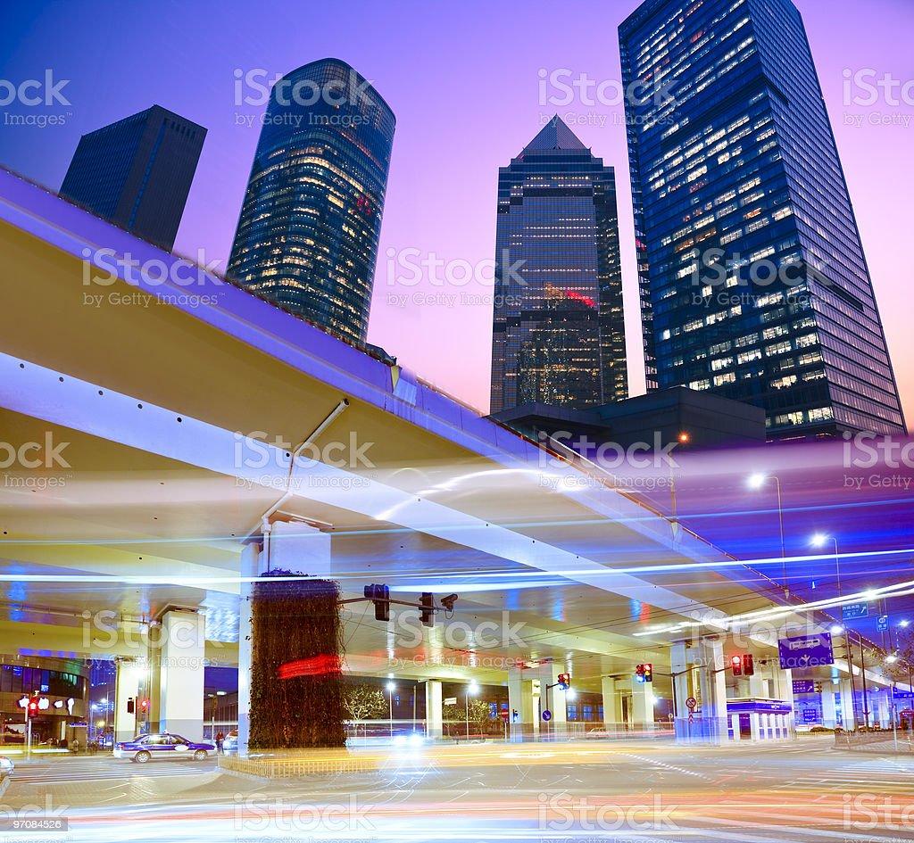 Megacity Highway royalty-free stock photo