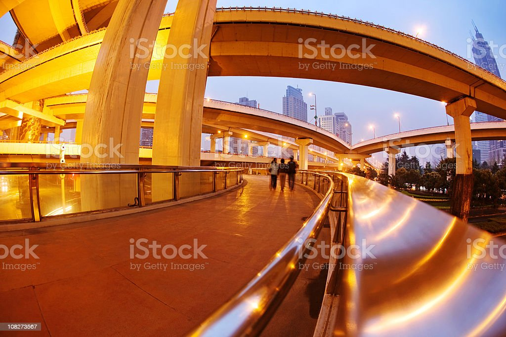Megacity Shanghai royalty-free stock photo