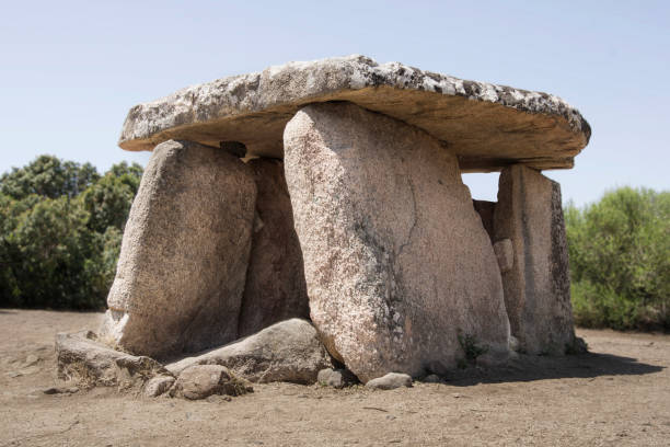 megalithic tomb stock photo