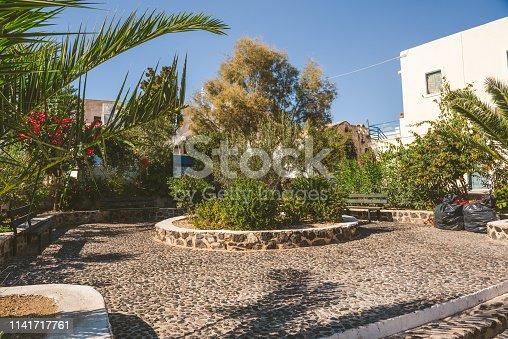 Megalochori square, Santorini