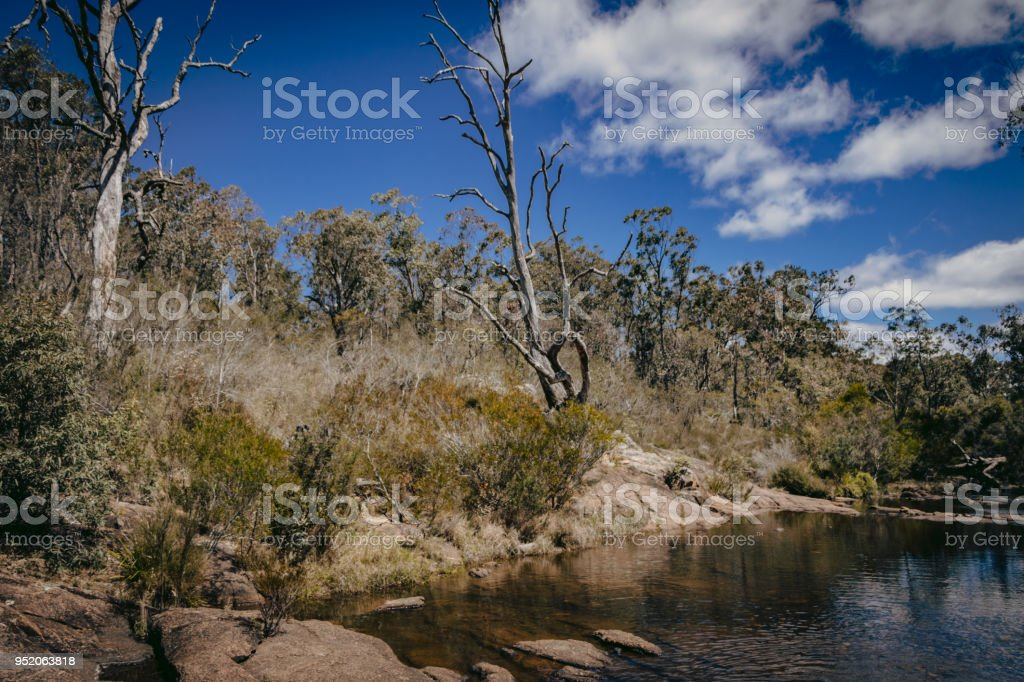 Megalong Valley Creek Bed stock photo