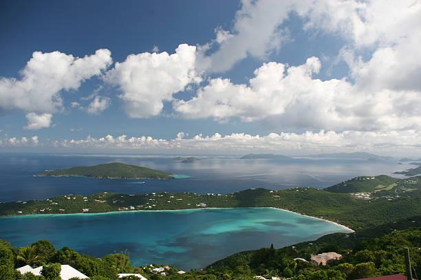 Megan's Bay on St. Thomas stock photo