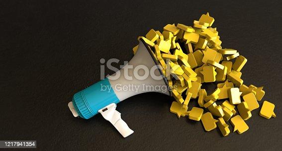 1192285342 istock photo Megaphone and blank bubble 1217941354