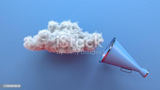 591831768 istock photo Megaphone and Cloud 1256990609
