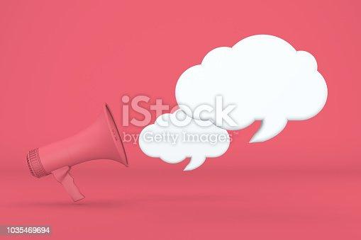 1192285342 istock photo Megaphone and Speech Bubbles 1035469694