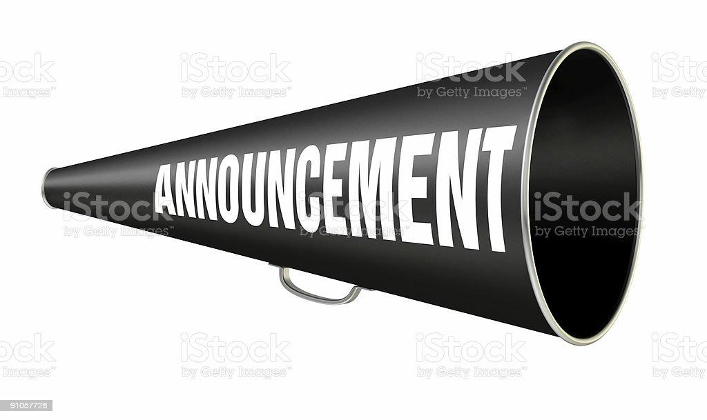 Megaphone Announcement royalty-free stock photo