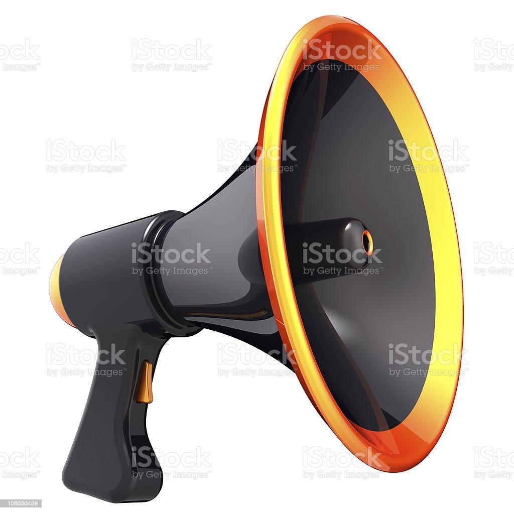 Megaphone black bullhorn loudspeaker communication icon stock photo megaphone black bullhorn loudspeaker communication icon royalty free stock photo publicscrutiny Gallery