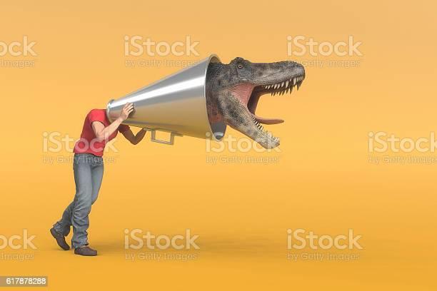 Megaphone man to dinosaur picture id617878288?b=1&k=6&m=617878288&s=612x612&h=yckw cqzlz6v3elte xtolta tw9bkl0gzmhesmjorc=