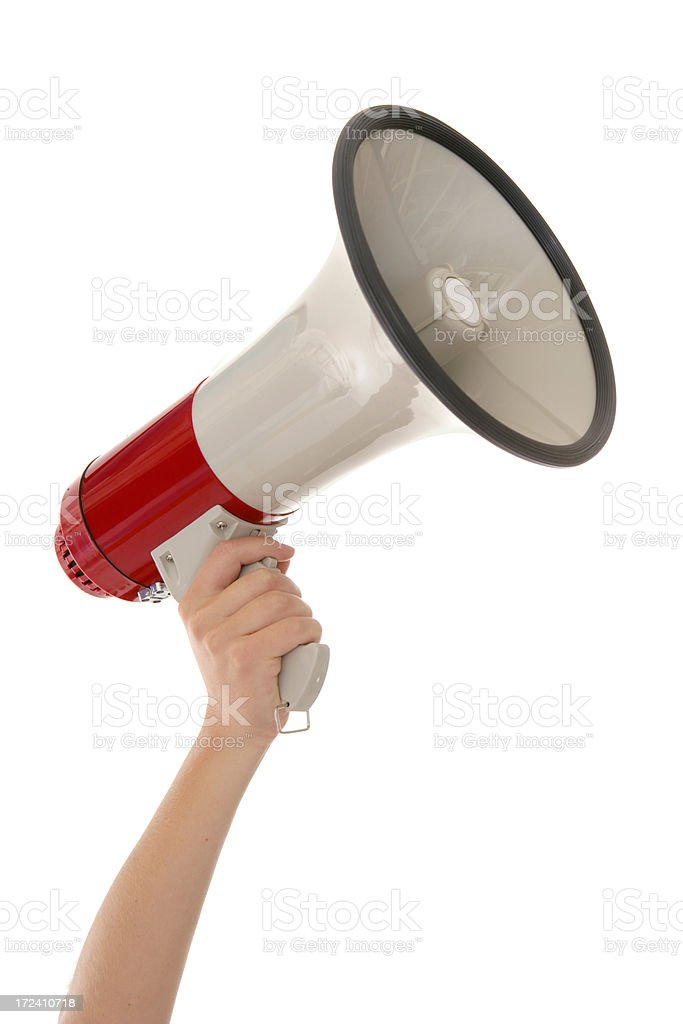 Megaphone Mastery stock photo