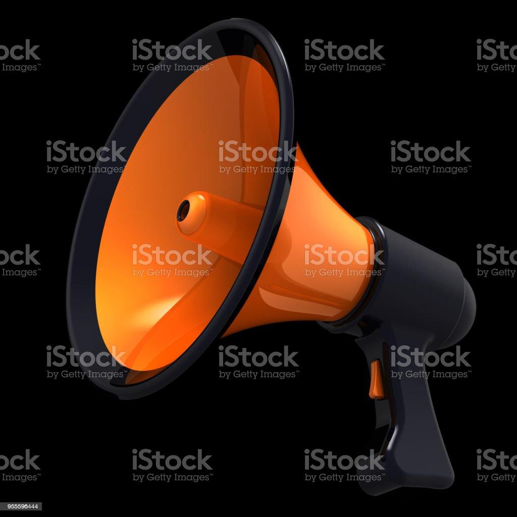 Megaphone news blog loudspeaker bullhorn orange icon stock photo megaphone news blog loudspeaker bullhorn orange icon royalty free stock photo publicscrutiny Gallery