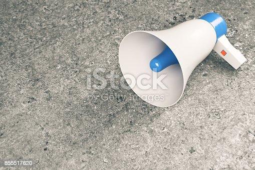 istock Megaphone on concrete background 855517620