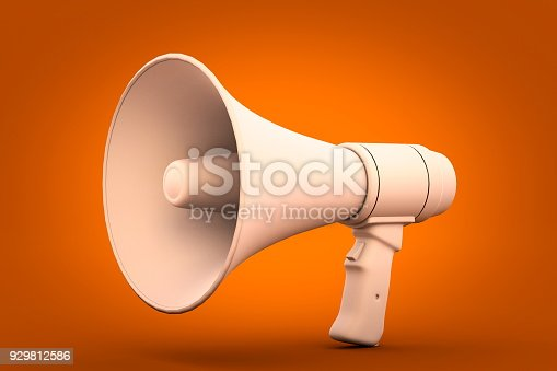 istock megaphone on orange background 3d render 929812586