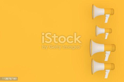 591831768istockphoto Megaphone on yellow background 1139767161