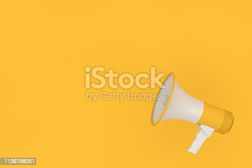 591831768 istock photo Megaphone on yellow background 1139768051