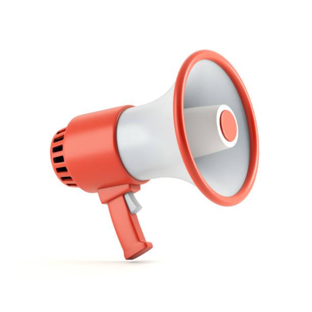 megaphone - megafono foto e immagini stock