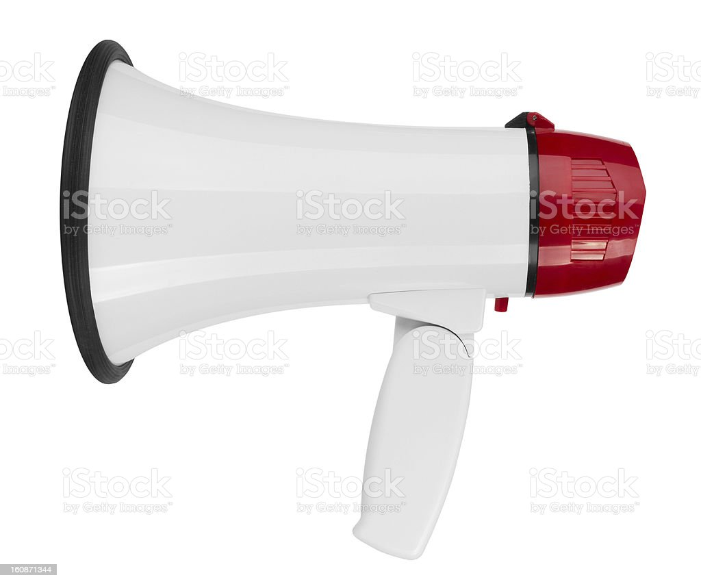 Megaphone royalty-free stock photo