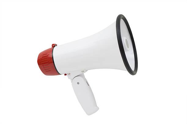 megaphone - megafon stok fotoğraflar ve resimler