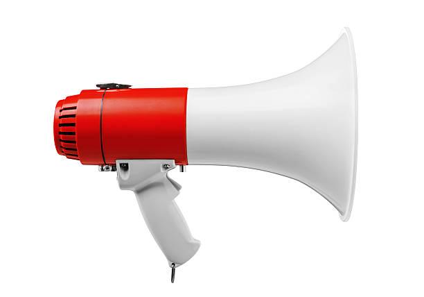 megafono - megafono foto e immagini stock