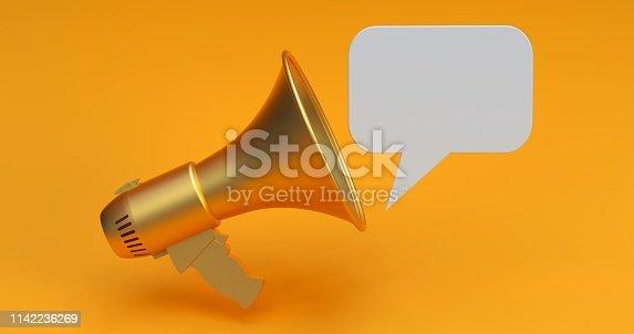 690508154 istock photo Megaphone Social Media Concept 1142236269