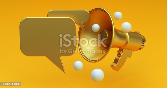 690508154 istock photo Megaphone Social Media Concept 1142241093