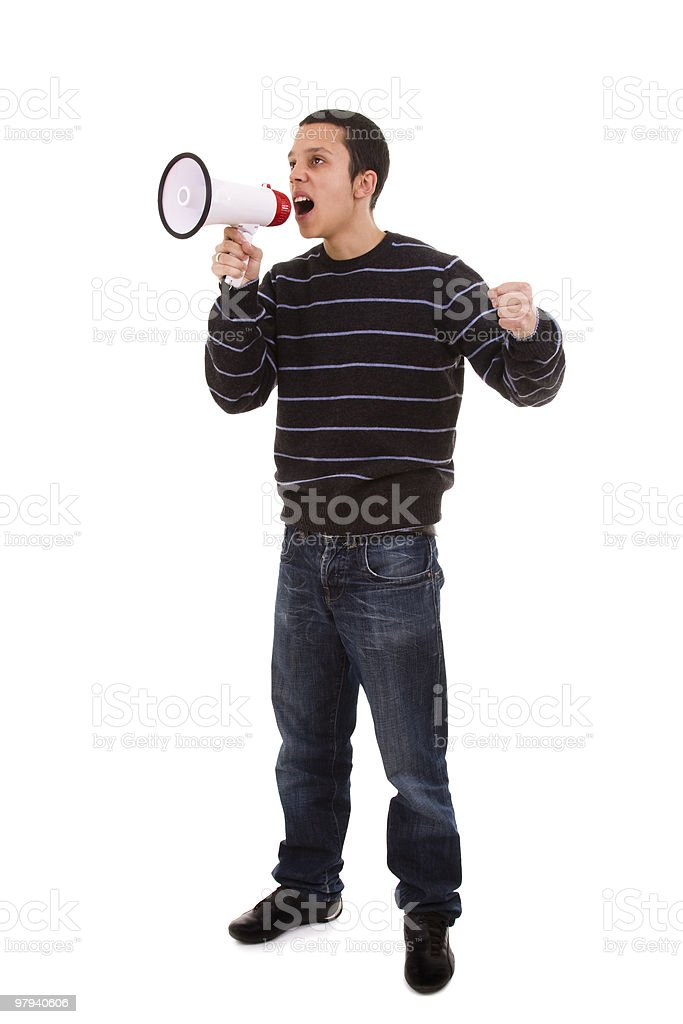 megaphone speaker royalty-free stock photo