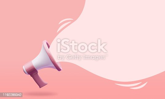 istock megaphone with Speech bubble illustration 1192285342