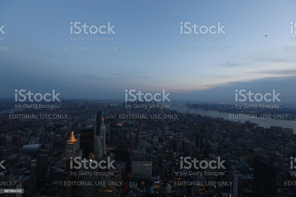 Megapolis in the evening. America, New York City - May 13, 2017 stock photo