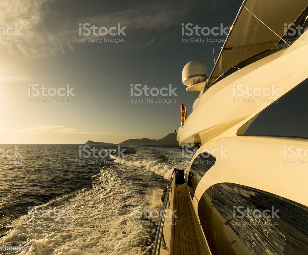Megayacht royalty-free stock photo