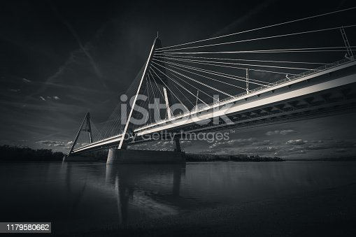 Megyeri bridge, Budapest, Hungary