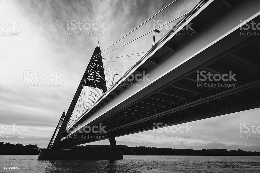 Megyeri Bridge stock photo