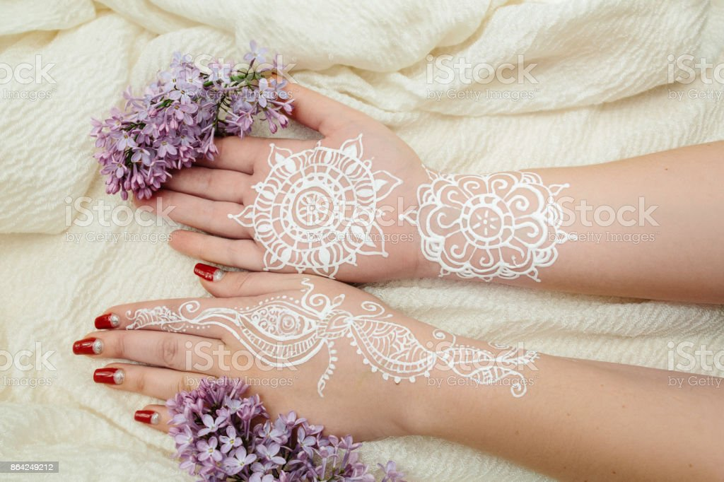 mehendi henna art royalty-free stock photo
