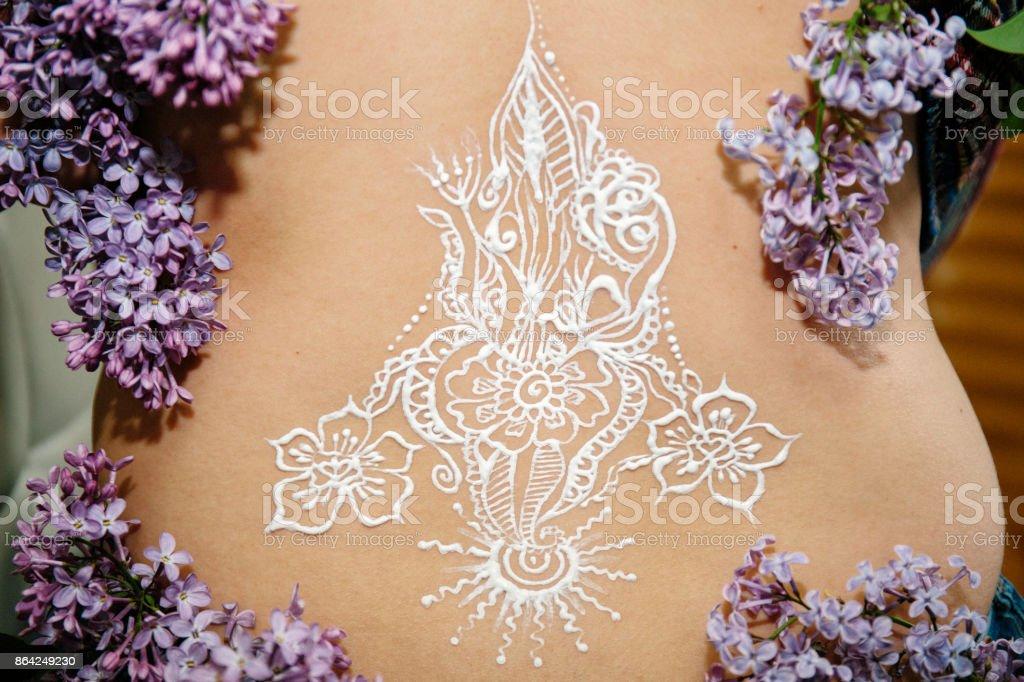 mehendi henna art royalty-free stock photo