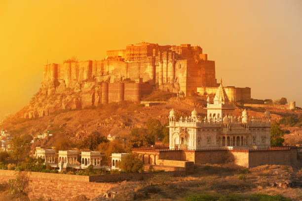 Cтоковое фото Mehrangarh Fort and Jaswant Thada Mausoleum