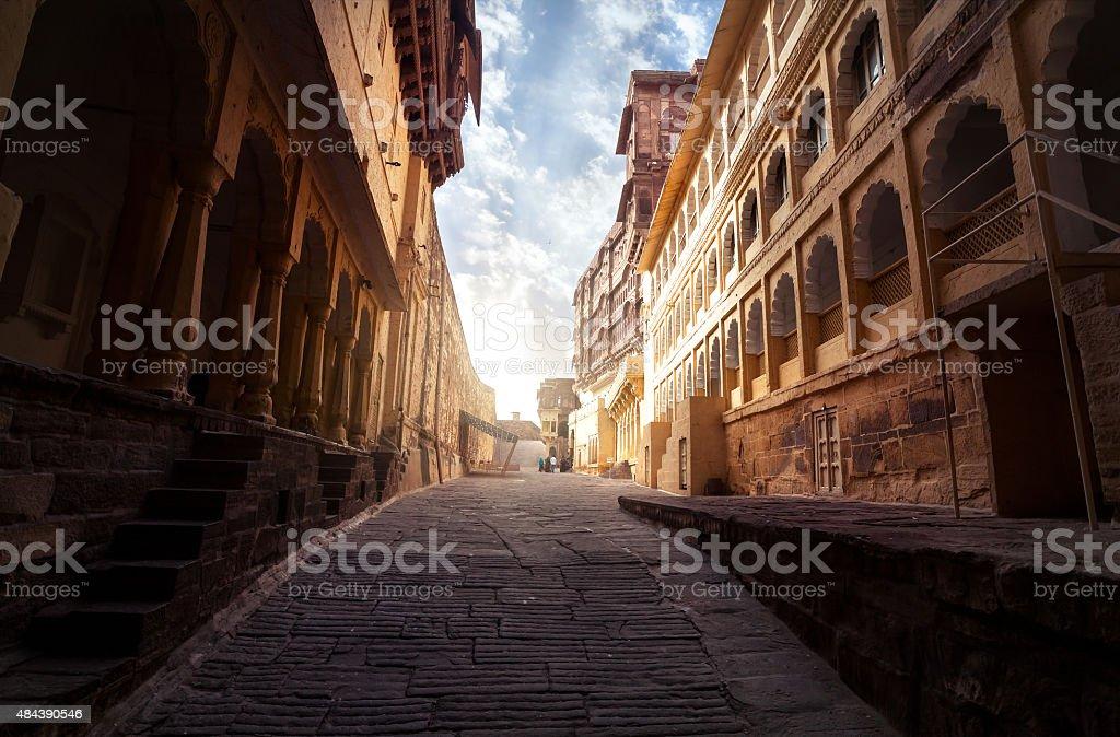 Mehrangarh fort in India stock photo