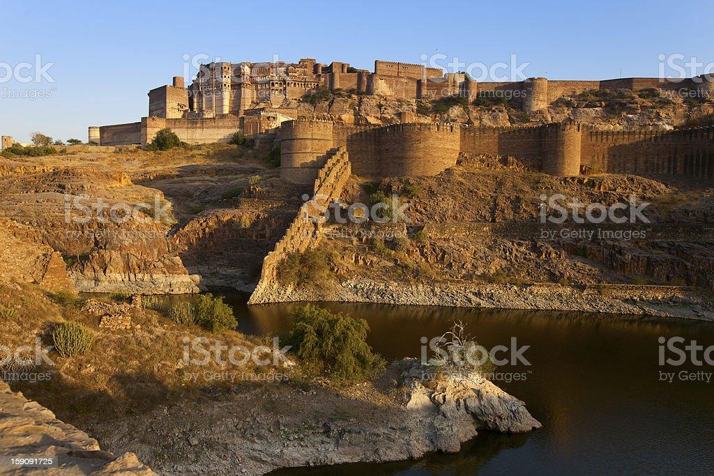 mehrangarh fort in Jodhpur, India royalty-free stock photo