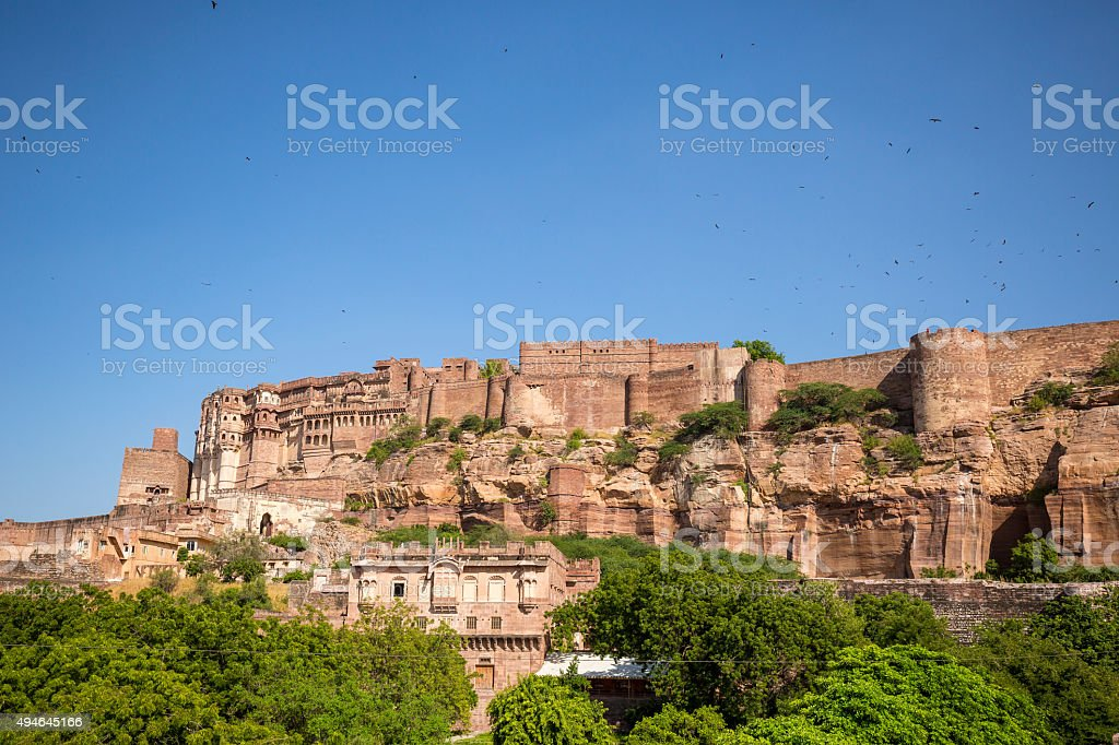 Mehrangarh Fort in Jodhpur Rajasthan India stock photo