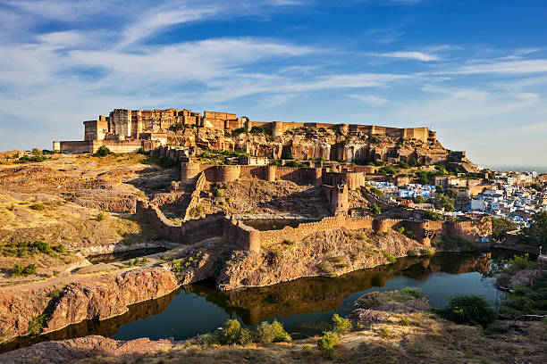 mehrangarh fort, jodhpur, rajasthan, india - pone stock photos and pictures