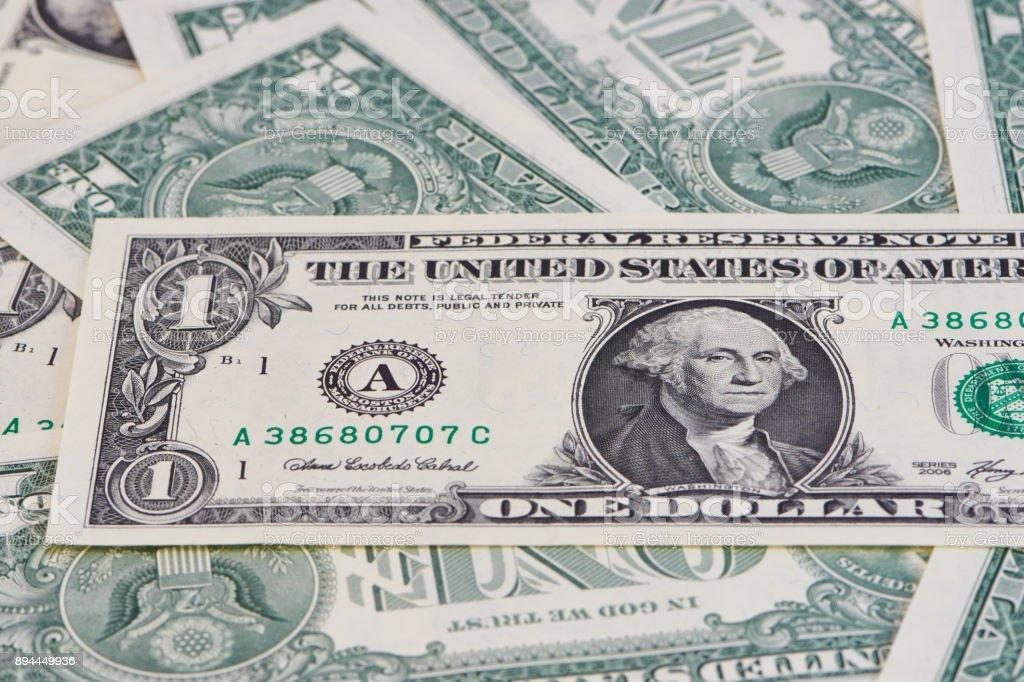 Mehrere ein Dollar Scheine stock photo