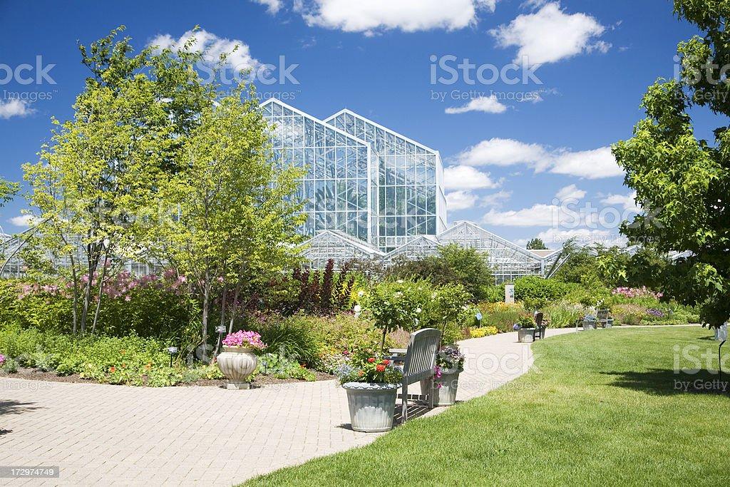 Meijer Gardens and Greenhouse in Grand Rapids, Michigan stock photo