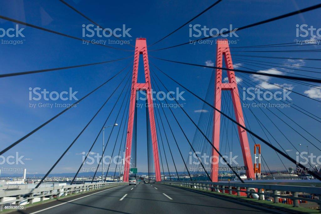 Meiko Nishi bridge foto stock royalty-free