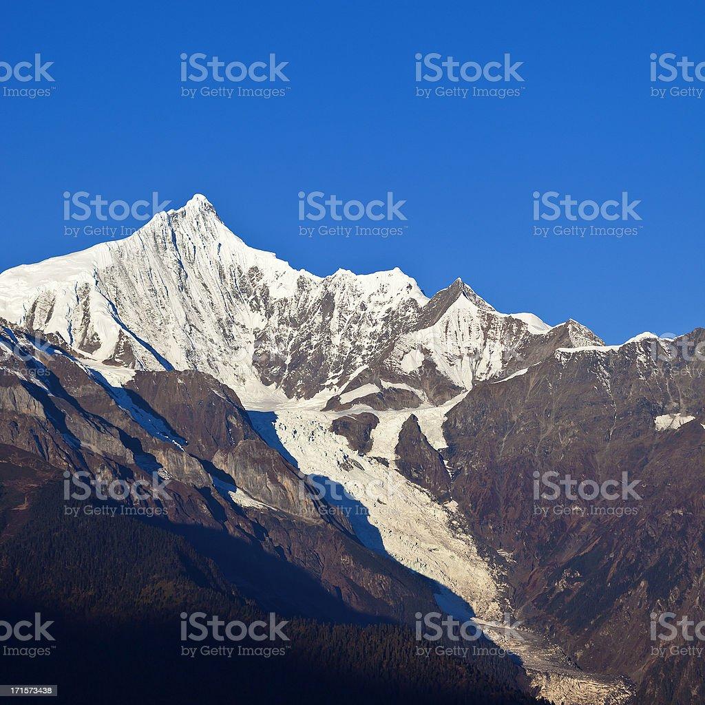 Meili Snow Mountain In Yunnan, China royalty-free stock photo