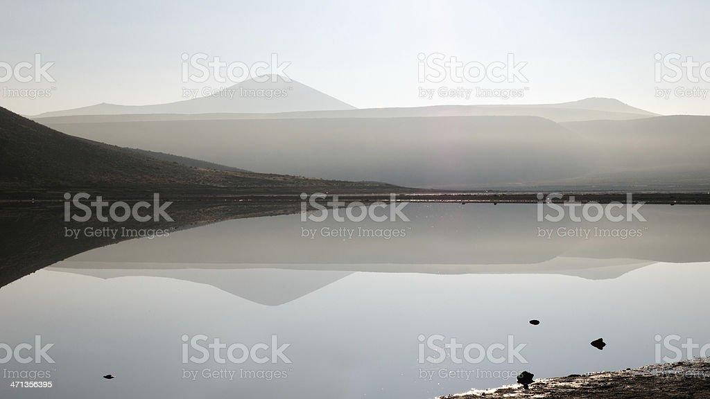 Meke Lake in Konya Turkey, sunrise time royalty-free stock photo