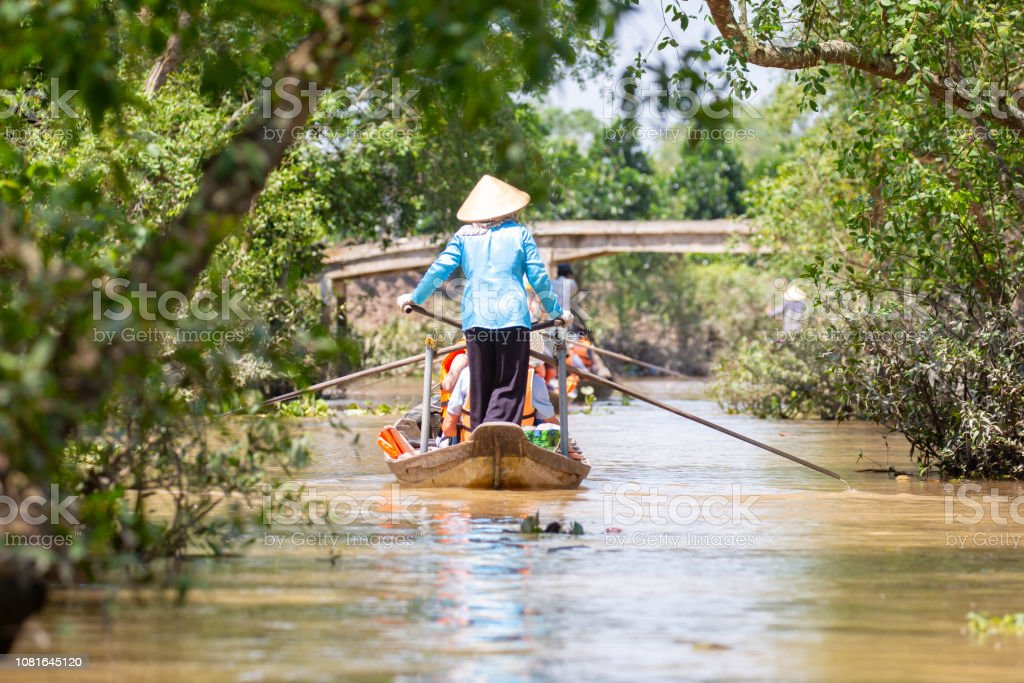 Mekong Delta River Lifestyle stock photo