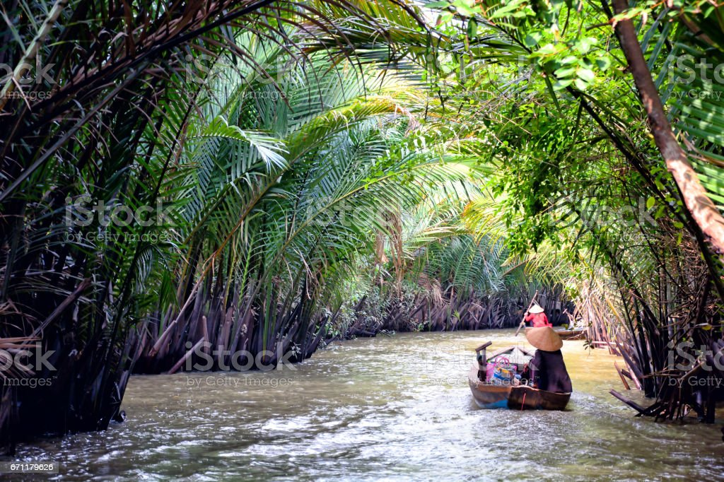 Mekong Delta, Vietnam stock photo