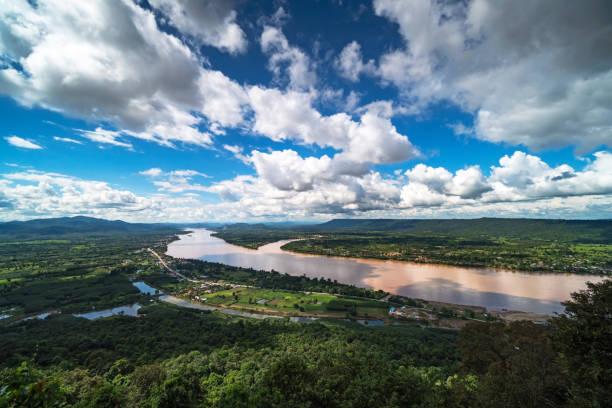 Mekong River At Nong Khai In Thailand stock photo